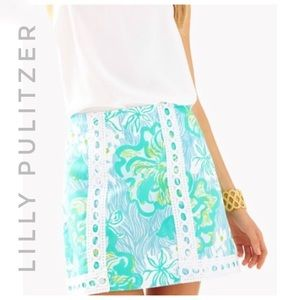 LILLY PULITZER Nwt wave rider lagoon green skirt